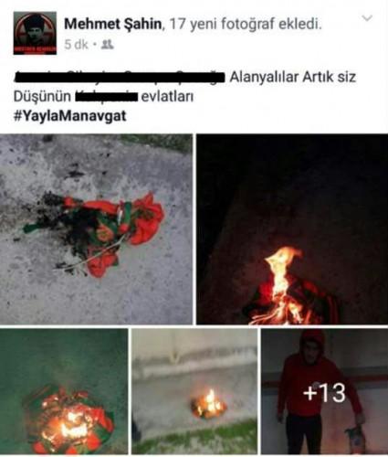 Sosyal Medya da Manavagat taraftarları adeta Alanya'ya savaş açtılar. Küfür ve hakaret içeren mesajlar paylaştılar.