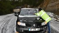 Alanya'da kar seferberliği: İşte o kareler