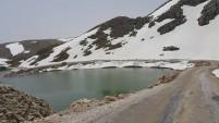 Alanya yaylalarından şaşırtıcı kar manzaraları