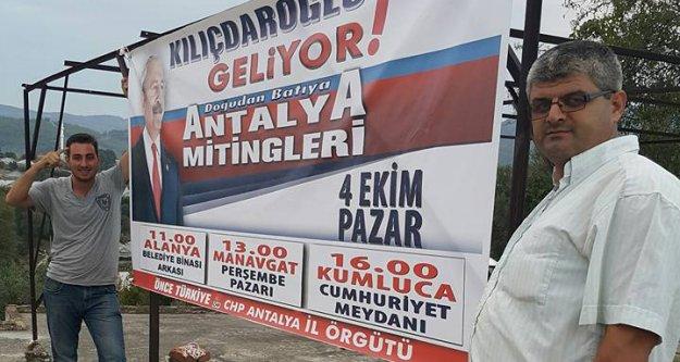 CHP'DEN 'AKP PANKARTLARIMIZI TOPLATTI' İDDİASI