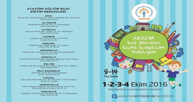 AKBEM'de kurs kayıtları başlıyor