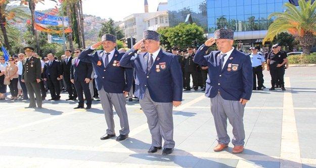 Alanya'da Gaziler Günü kutlandı