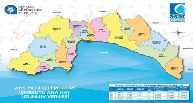 Antalya'nın tüm alt yapısı  veri tabanında toplanıyor