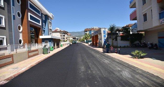 Oba'daki Maki Sokak asfaltlanıyor
