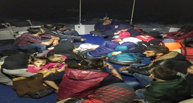 Alanya ve Kaş'ta  45 Suriyeli göçmen yakalandı