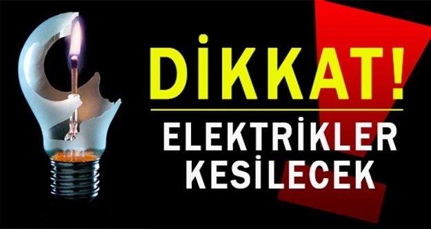 Alanya'da planlı elektrik kesintisi var