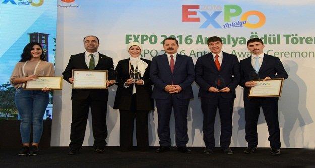 EXPO'daki Alanya Bahçesi'ne ikincilik ödülü