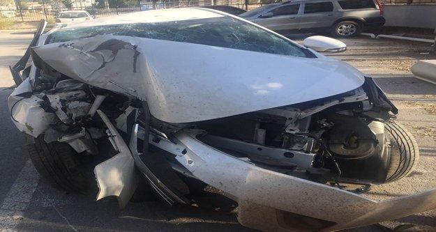 Komutanların bulunduğu araç yoldan çıktı: 3 yaralı