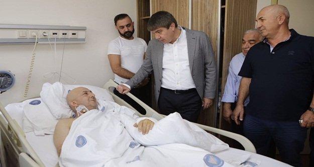 Türel'den Çavuşoğlu'na 'Geçmiş olsun' ziyareti