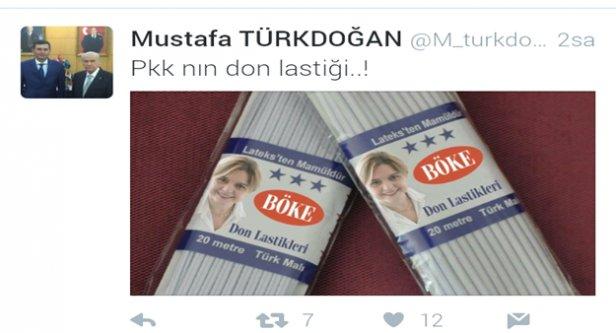 Türkdoğan'dan 'PKK'nın don lastiği' paylaşımı