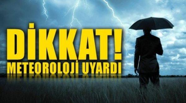 Alanya için yağmur ve fırtına uyarısı