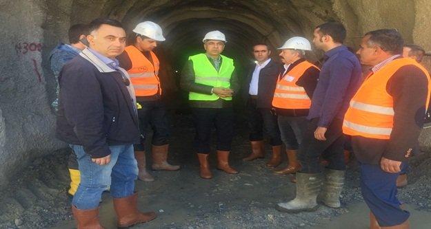 Baraj inşaatını incelemeye geldi