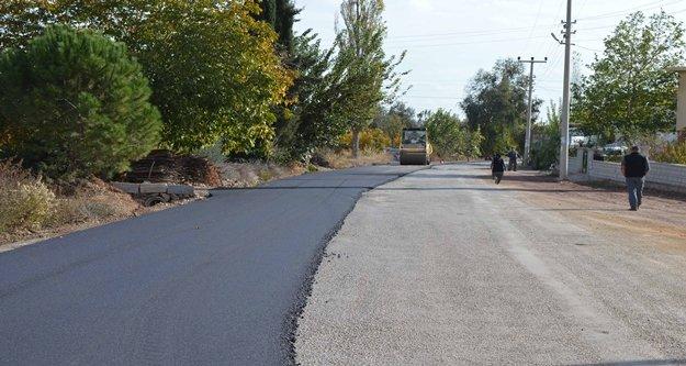 Döşemealtı'na  sıcak asfalt çalışması
