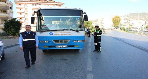 Halk otobüsü denetimleri arttı