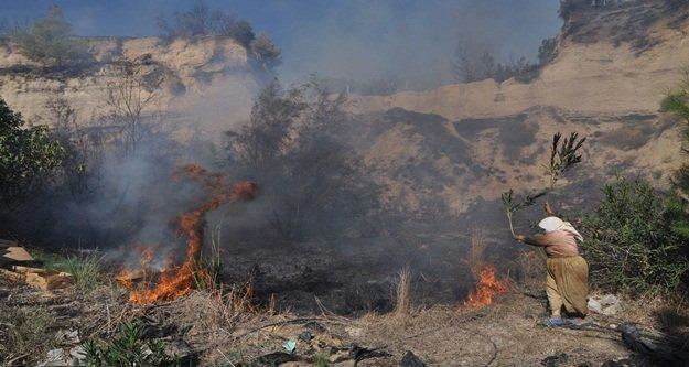 Korkutan orman yangını