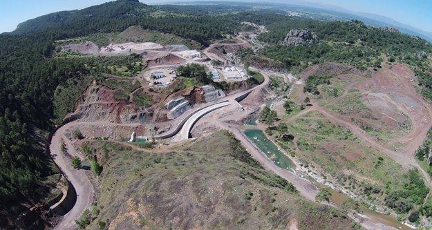 Küçük Aksu Barajı inşaatının yüzde 64'ü tamamlandı