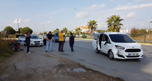Manavgat'ta trafik kazası:1 yaralı