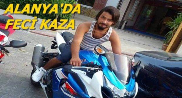 Motosikletli gencin feci ölümü