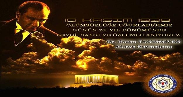 Tanrıseven'den '10 Kasım Mesajı'