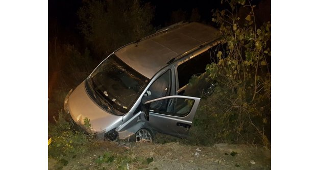 Tur minibüsü kaza yaptı: 2 turist yaralı