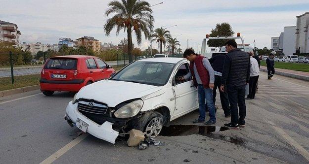 Alanya yolunda kaza:...