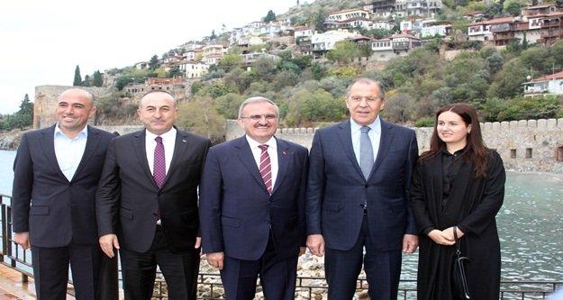 Çavuşoğlu, Lavrov'a Alanya'yı tanıttı