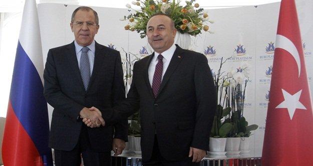 Çavuşoğlu ve Lavrov Alanya'da buluştu