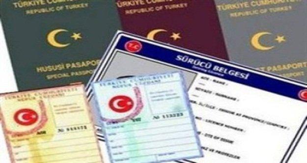 Ehliyet, kimlik ve pasaporta zam geldi
