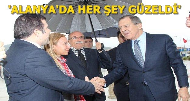 Lavrov Alanya'dan ayrıldı