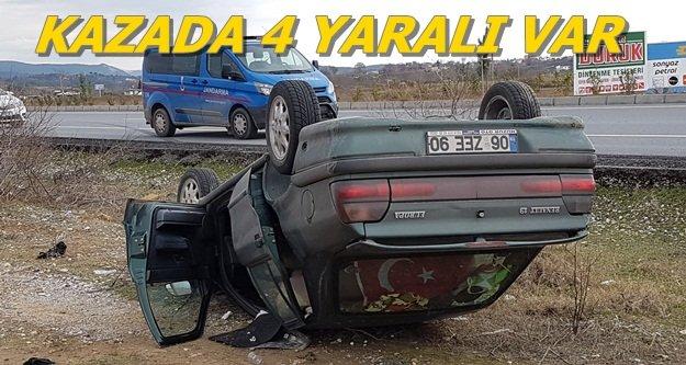 Alanya'ya gelirken kaza yaptı