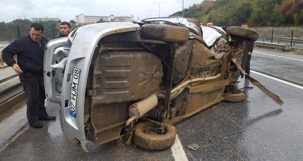 Kaza yapan sürücünün isyanı