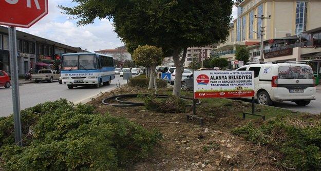 Alanya Belediyesi'nden tasarruflu sulama sistemi