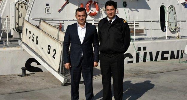 Başkan Yücel'den yüzbaşı ziyareti
