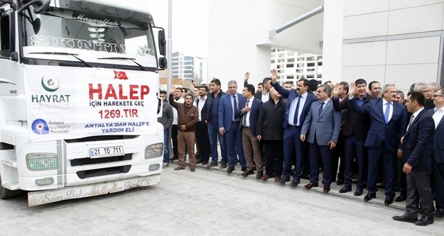 Halep'e 10 tır yardım gönderdik