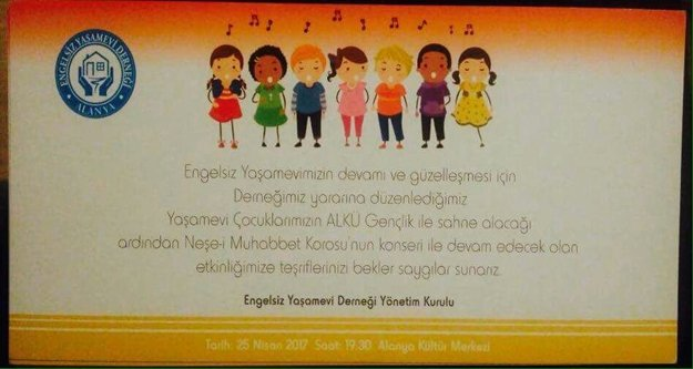 Yaşamevi Gençliği Alanya'da konser veriyor