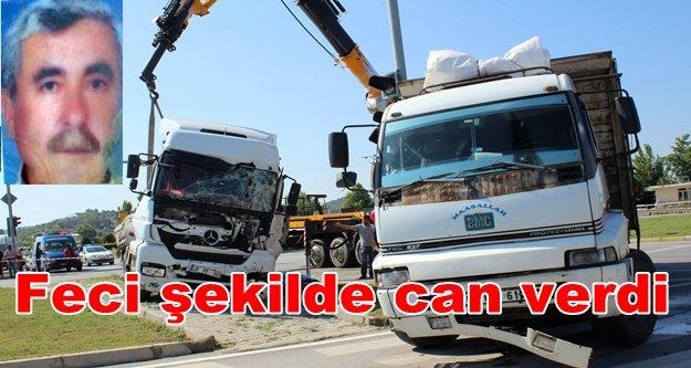 Tır ile kamyon birbirine girdi: 1 ölü var