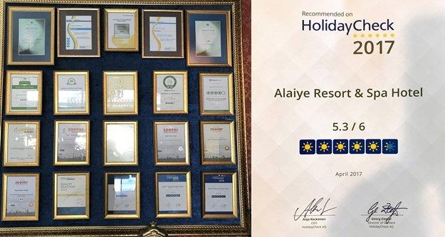 Alaiye Hotels ödüle doymuyor