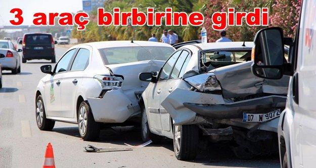 Alanya'da zincirleme trafik kazası