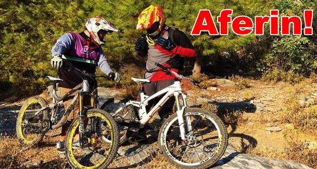 Alanya'nın bisikletli tanıtım elçisi