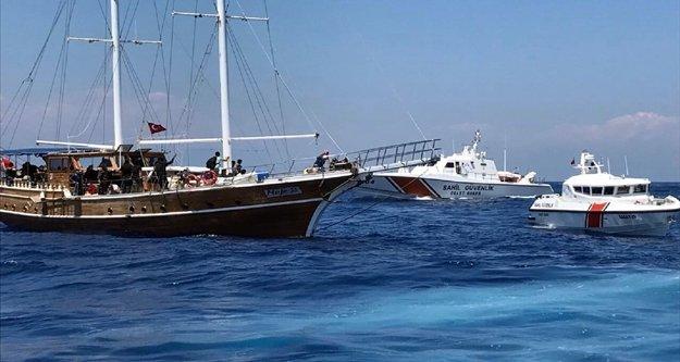 Denizde 194 kaçak göçmen yakalandı