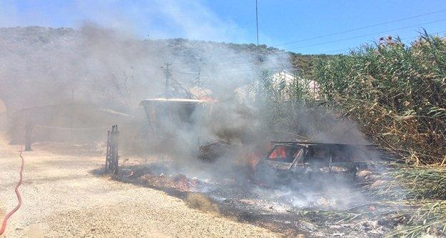 Ev ve seralarda yangın paniği
