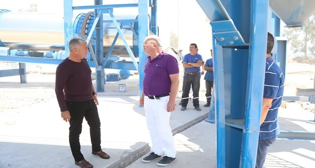Komşu belediyeye yeni asfalt plent tesisi