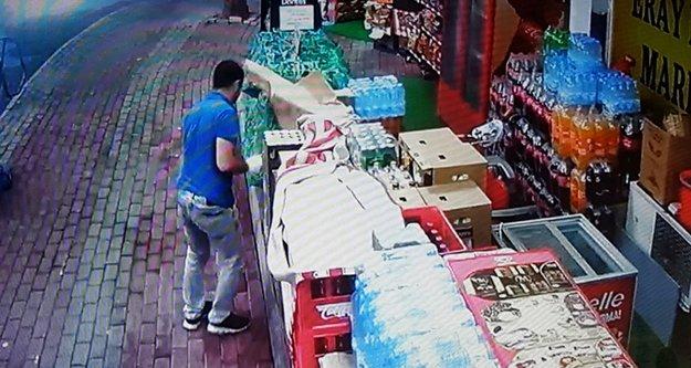 Marketi soyan hırsızları kendisi yakalamaya çalıştı
