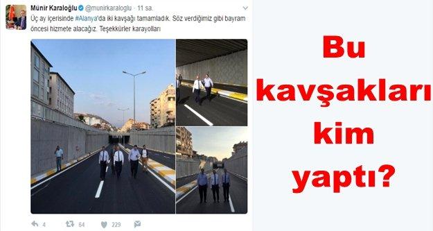 Türel'e değil karayollarına teşekkür etti