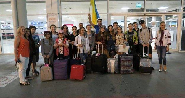 Ukraynalı şehit çocukları tatile geldi