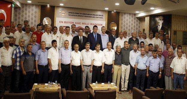 75 esnaf odası başkanından ortak 15 Temmuz açıklaması