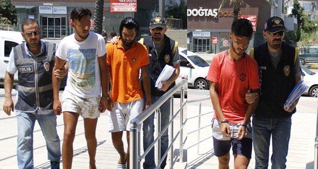Alanya'da Belçikalı 3 gaspçı yakalandı