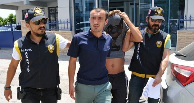 Alanya'da iki hırsızlık şüphelisi gözaltında