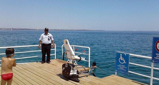 Engelliler plajına çirkin saldırı