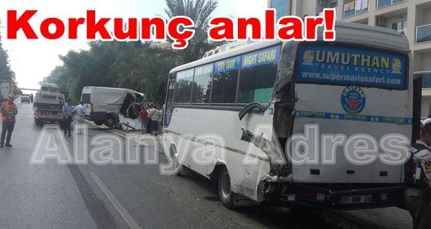 Alanya'da feci kaza: 2 ağır yaralı var